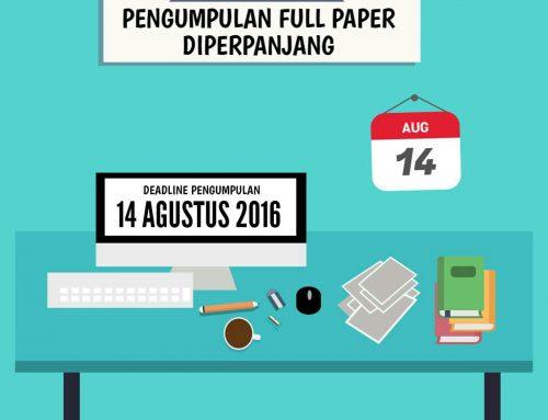 DIPERPANJANG!!! Pengumpulan Full Paper CfP (Call for Paper)