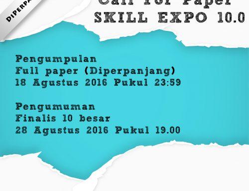 (Perpanjangan) Pengumpulan Full Paper CFP SKILL EXPO 10.0